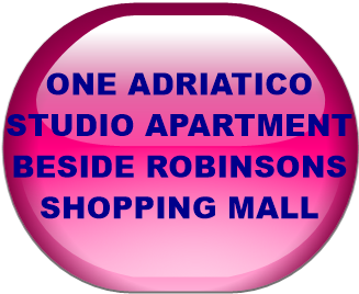 ONE ADRIATICO STUDIO APARTMENT BESIDE ROBINSONS SHOPPING MALL