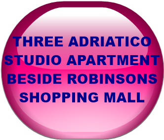 THREE ADRIATICO STUDIO APARTMENT BESIDE ROBINSONS SHOPPING MALL