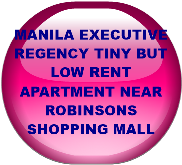 MANILA EXECUTIVE REGENCY TINY BUT LOW RENT APARTMENT NEAR ROBINSONS SHOPPING MALL
